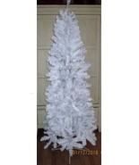 Vickermam Salem Slim Pine Christmas Tree White  NIB 6 1/2' Tall FREE SHIP - $91.08
