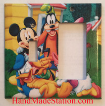Mickey Minnie Donald Duck Light Switch Power Outlet wall Cover Plate Home decor image 8