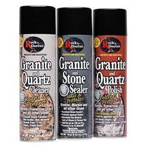 Rock Doctor Granite & Quartz Care Kit, 3 Piece Maintenance Stone Care Combo Kit