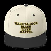 Made Ya Look Black Lives Matter Hat / Black Lives Matter Snapback Hat image 9