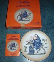 Goebel 1st LE Handpainted Plate Janet Robson Flight into Egypt Joseph Mary Jesus - $12.21