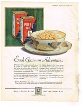 June 1924 McCall's Mag Ad; Quaker Puffed Rice & Shop for Swift Meats - $1.99