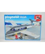 Playmobil City Life Private Jet Plane 5619 New 41 Piece Box Has Wear - $65.11