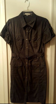 Pre-Owned Women's Black Calvin Klein Jean Dress ( Size 10) - $19.80