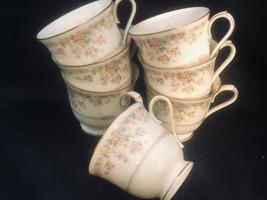 Noritake Gallery 7246 Porcelain 6 Tea Coffee Cups Made in Japan - $36.40
