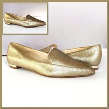 Nine West Abay Flats Size 7M Womens Metallic Gold Pointed-Toe    - $28.04