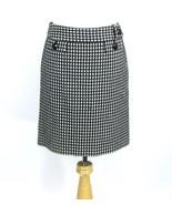 ANN TAYLOR Size 6 Black White Checked Short Straight Skirt - $19.99