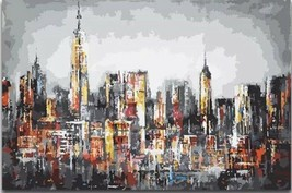 USA - DIY Paint by Number Kit Acrylic Painting Home Decor - City Landscape - $18.80