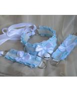 Made to Order - Kitten play collar & cuffs - Winter sky - ddlg cgl princ... - $43.00