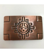 Vintage Chambers Belt Co. Copper Aztec Sun Rectangular Belt Buckle Made ... - $49.49