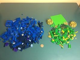 15 oz Blue & Green LEGO Pieces 100+ Bricks Parts Big Small Special Legos - $16.82