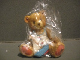 ENESCO CHERISHED TEDDIES # 914827 SMOOTH SAILING AUGUST BEAR FIGURINE - $4.90