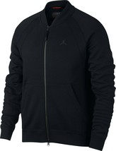Nike Men's Jordan Wings Fleece Bomber Jacket NEW AUTHENTIC Black 883987-010 - $79.49