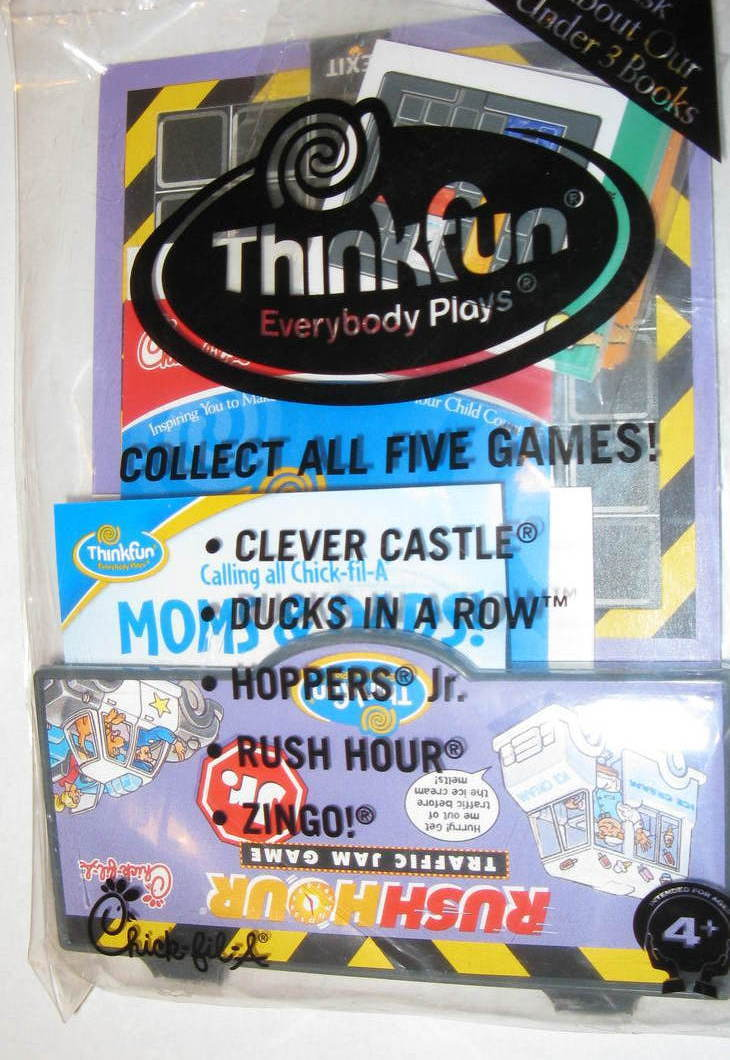 Chick Fil A Rush Hour Game Ages 4 and Up New