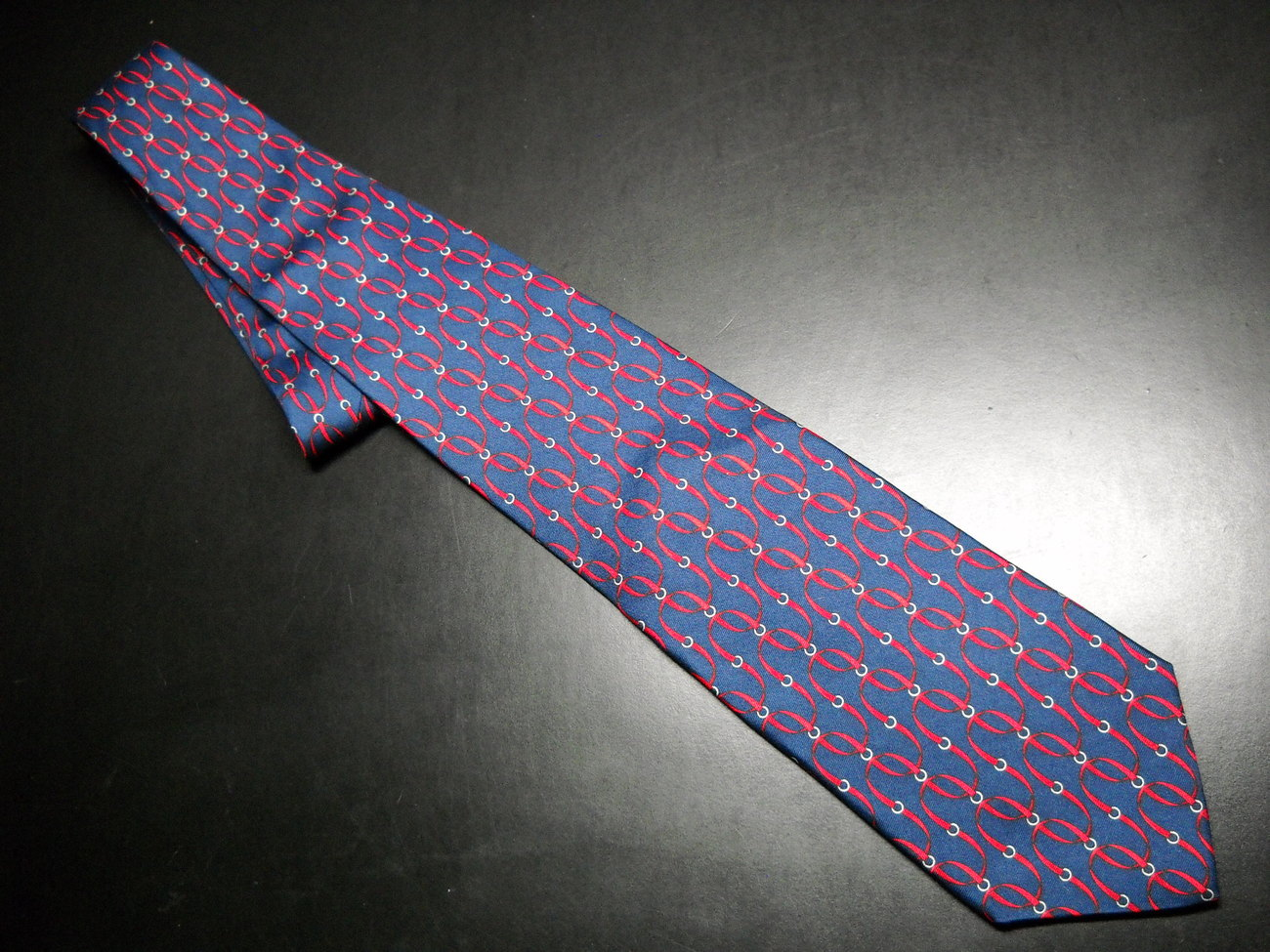 Brooks Brothers Makers Neck Tie Silk Printed in Italy Blue with Red Colors Brooks Brothers Makers