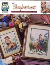 The Shepherdess Lamb True Colors Cross Stitch Pattern Leaflet 2 Designs NEW - $4.47