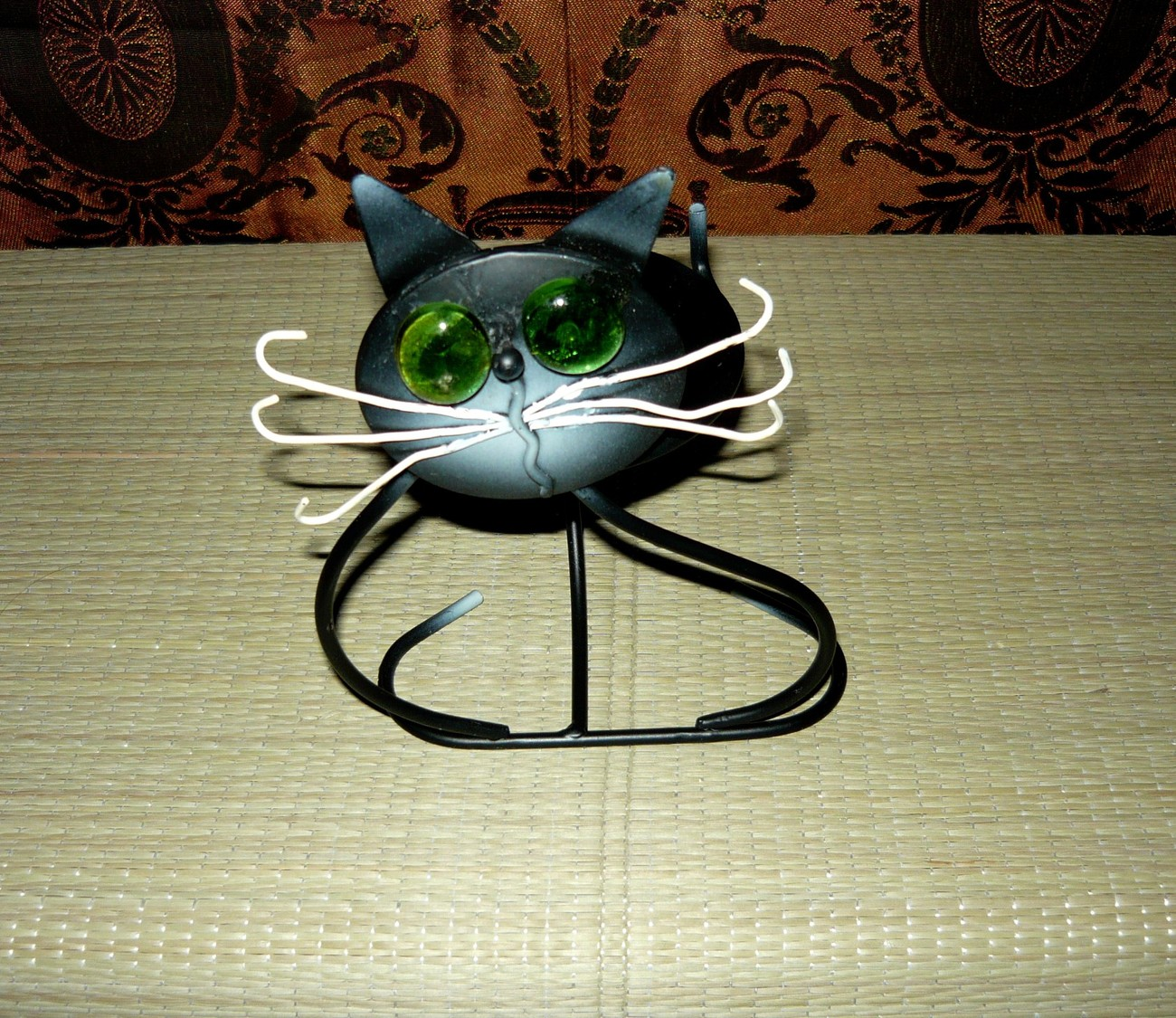Black Kitty Cat Candle/Earring/Change Holder