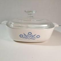 Corning ware Corelle Blue Cornflower Casserole Dish with lid 1 Qt P-1-B - $10.42