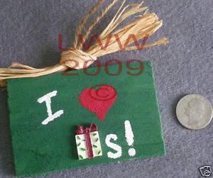 Small I love (heart) Presents Gifts Sign Handmade NEW  Bonanza
