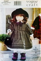 "OOP Vogue Craft Pattern 7007. 18"" Stuffed Doll & Clothes: Dress, Bloomer... - $26.46"