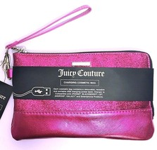 Juicy Couture Wristlet Phone Charging Charger Pink Cosmetic Bag Case NEW... - €29,76 EUR