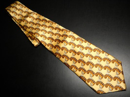 Countess Mara Masterpiece Neck Tie Soft Golds Browns Hand Tailored Impor... - $15.99