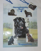 Newfoundlands Gift Bag Dogs Present Handles Blue Tag Best Friend New Newfie - $5.93
