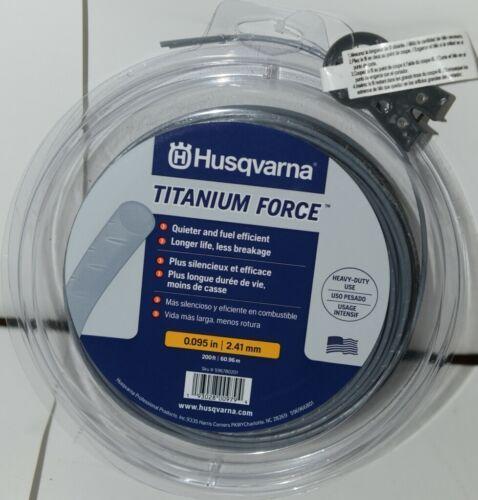 Husqvarna 596780201 Titanium Force Trimmer Line Grey 200 feet .095 Size
