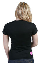 Rogue Status DTA Womens Juniors Black Pink Full of Love Shlt Heart T-shirt NWT image 4
