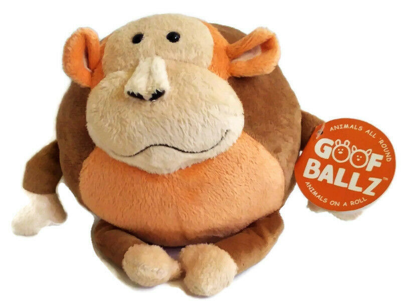 "Primary image for Goofballz Max the Monkey Plush 7"" Round Soft Ball Stuffed Animal Toy with Tags"