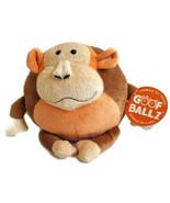 "Goofballz Max the Monkey Plush 7"" Round Soft Ball Stuffed Animal Toy wit... - $19.80"