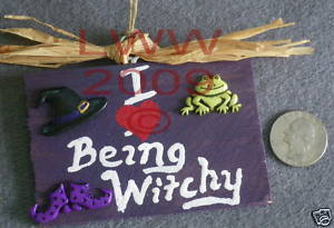 I Love being Witchy Small Sign Handmade NEW