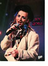 Adam Ant Boy George teen magazine pinup clipping live in concert white s... - $3.50
