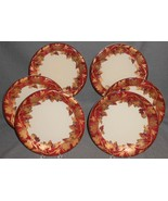 Set (6) Crate & Barrel VOLANTE PATTERN Salad Plates MADE IN ITALY - $89.09