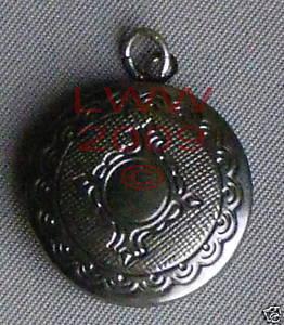 Round Dark Pewter-tone Necklace Locket Pendant Charm Bonanza