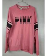 Victorias Secret Pink Womens Sweatshirt Sz Small Pink Long Sleeve Pullov... - $32.88