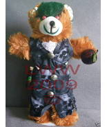 Poison Brown Plush Gothic Goth Teddy Bear Handmade NEW - $19.99