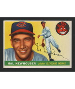 1955 Topps Baseball - HAL NEWHOUSER - #24, CLEVELAND INDIANS - $21.77