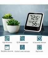 Sparoma Digital Hygrometer Indoor Thermometer, Humidity Gauge Indicator ... - $15.88