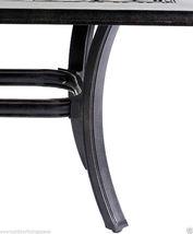 Outdoor Coffee Table Rectangular Patio Cast Aluminum Furniture Desert Bronze image 8