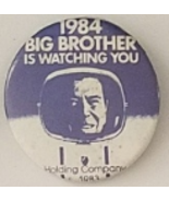 """1984 BIG BROTHER Is Watching You  2-1/4"""" Pinback Button, Vintage - $9.95"""