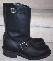 Frye Women's Black Leather Engineer 12R Side Buckle Boots Bootie $278 Sz... - $199.99