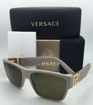 Neu Versace Sonnenbrille Ve 4296 5146/73 59-16 Beige & Gold Rahmen mit / Braune