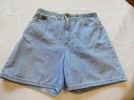 Womens Ladies Lee Denim Jean shorts 12 petite faded blue GUC - $16.03