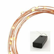 Philips C 30ct WARM WHITE DewDrop Lights COPPER WIRE Wedding Craft Bulk Lot of 6 image 3