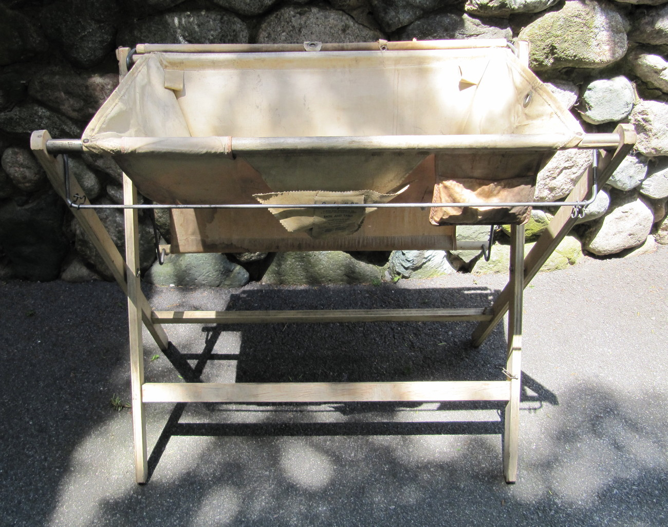 "Primary image for Vintage 1940s Baby ""B"" Bath and Changing Table Stand Combo"