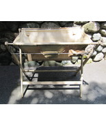 "Vintage 1940s Baby ""B"" Bath and Changing Table Stand Combo - $65.00"