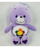 "Care Bears Harmony Bear 11"" Plush Purple Flower Tummy Heart Feet Stuffed... - $15.48"