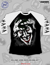 Matando Broma Dc Comics Joker Ha Risa Suicide Squad Camiseta Raglan 48-J41 - $21.02