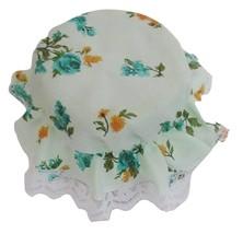 Light Green Jar Covers,Regular Mason canning jar,White lace,Teal & coral... - $3.50